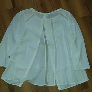 NWOT Lauren Conrad cream blouse